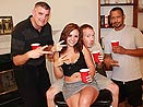 18yo Ashly Gets Her First Gangbang