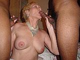 Blonde milf orgy