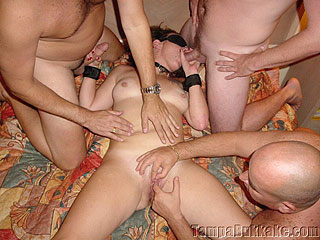 Sex Slave Blindfold Gang Bang