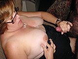 hot cum blasted on her tits