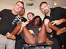 Squirting Ebony Banged by Bukkake Boys!
