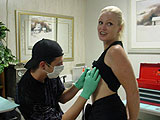 Emerald getting her nipple pierced