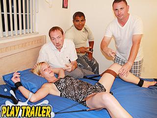 anal bondage bed