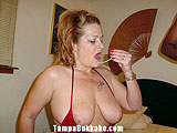Big tittie milf with cum on her mouth