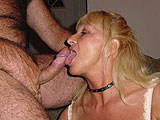 Susan Reno licks another cock