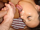 Sierra swallows the hot creamy loads!